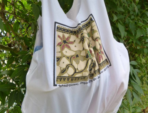 T-Shirt Recycling – Beuteltasche aus altem T-Shirt