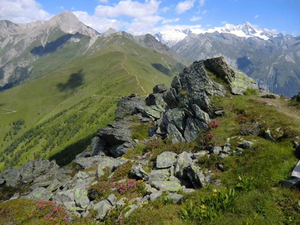 Schöne Aussicht beim Bergwandern , Hohe Tauern