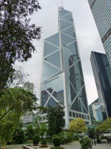 Der Bank of China Tower in Hong Kong ist schon ein Hingucker.