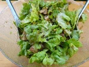 salat mit chanpignons