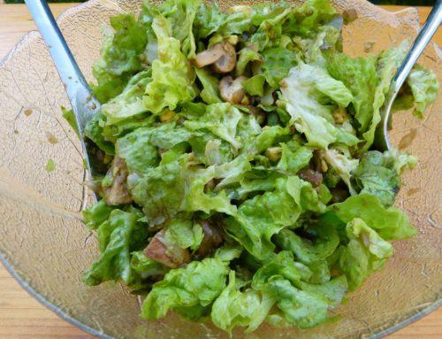 Salat mit Champignons – ein Sommerrezept