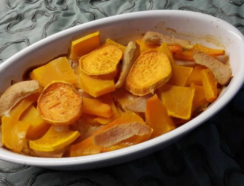 Rezept – Kürbis Auflauf mit Birne