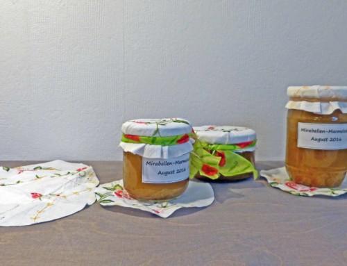DIY Marmeladenglas dekorieren mit Stoff Recycling