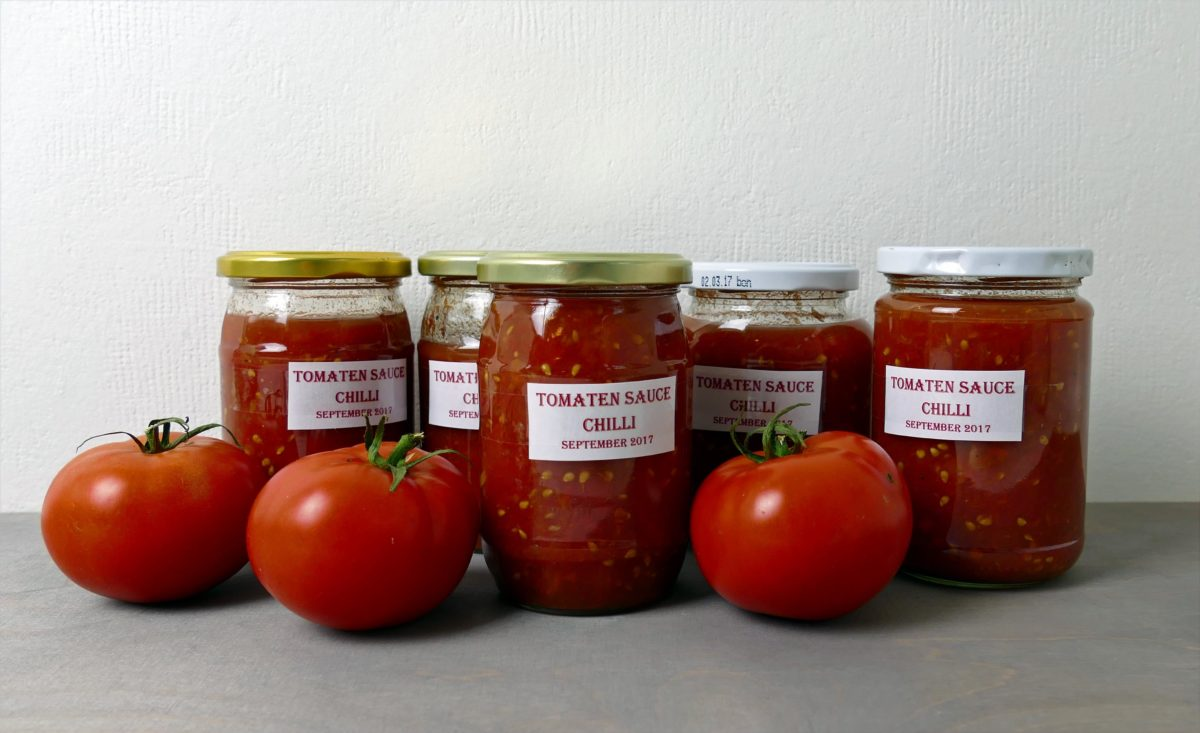 Tomatensauce einkochen