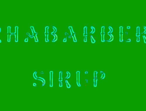 Rezept – Sirup aus Rhabarber