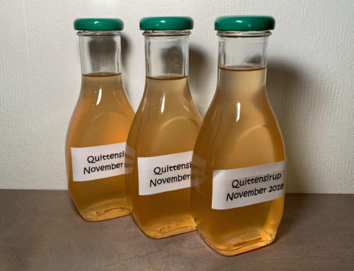 Rezept – Sirup aus Quitten