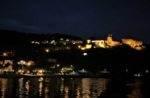 Blick nach St Goar mit Burg Rheinfels