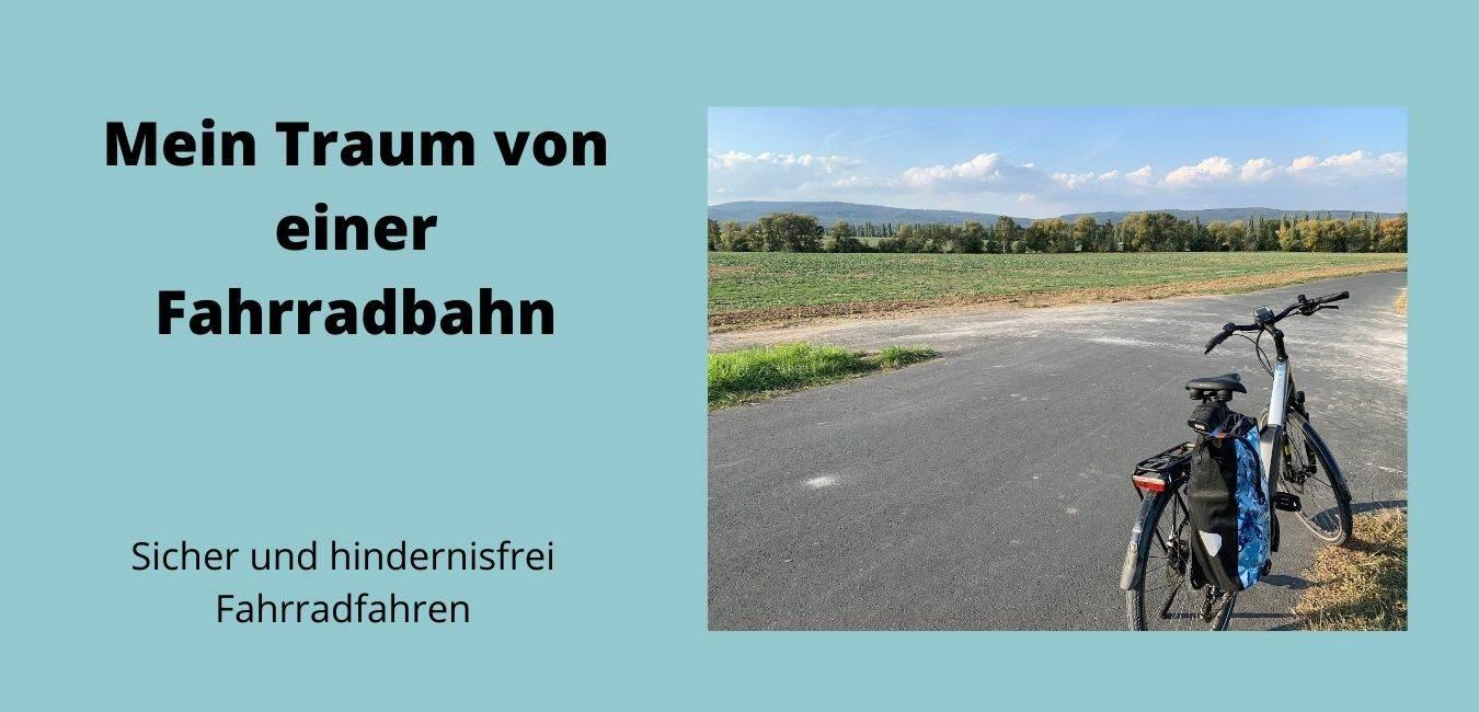Fahrradbahn und Fahrradweg